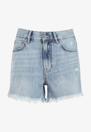 YANNI - Denim shorts - blue