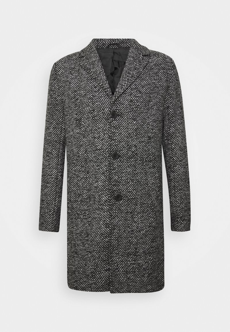 Solid - FAYETTE FAUXWOOL - Classic coat - black