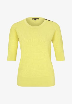 MIT WABENMUSTER - Print T-shirt - yellow