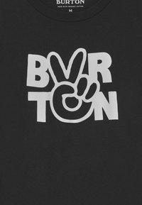 Burton - KIDS REESE SHORT SLEEVE UNISEX - Triko spotiskem - true black - 2