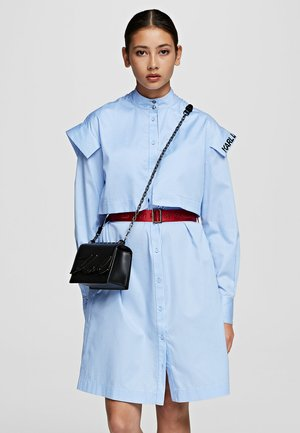 POPLIN  - Shirt dress - white/blue
