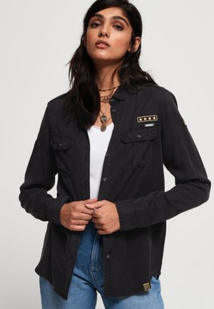 RAMONA MILITARY SHIRT - Camisa - verwaschenes schwarz