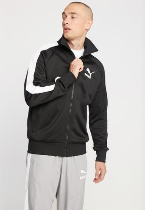 ICONIC TRACK - veste en sweat zippée - black