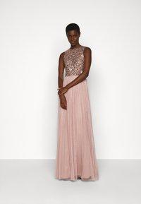 Lace & Beads Tall - PICASSO - Společenské šaty - mocha - 1