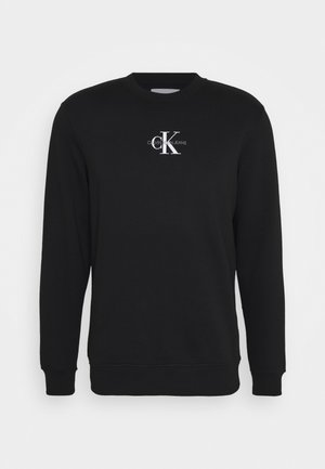 CHEST PRINT CREW NECK - Sweatshirt - black