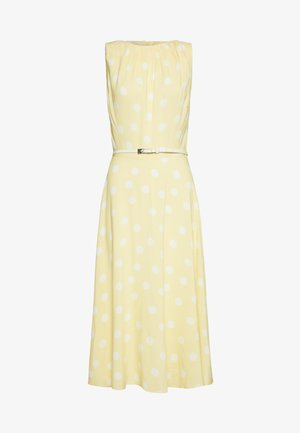 BILLIE TALL LEMOM SPOT SLEEVLESS MIDI FIT AND FLARE - Vestido informal - yellow