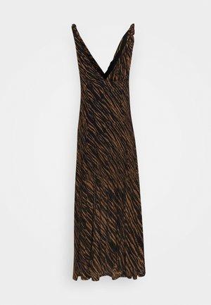 ZAHARA MIDI - Denní šaty - black/brown