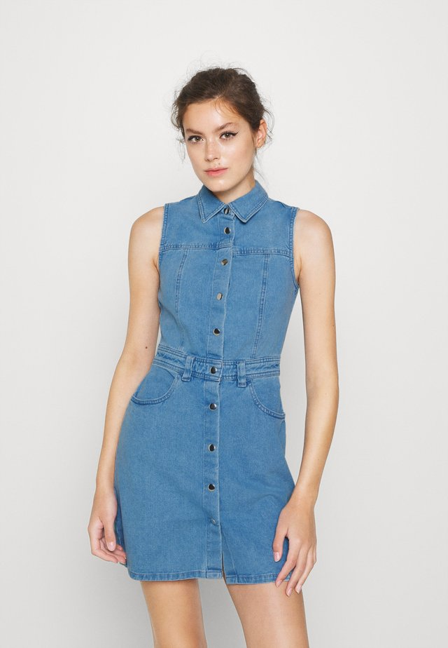 SLEEVLESS DRESS - Denim dress - denim