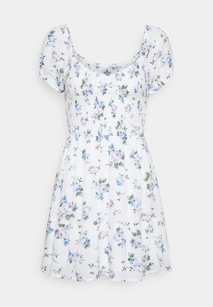 SHORT DRESS - Sukienka letnia - white floral