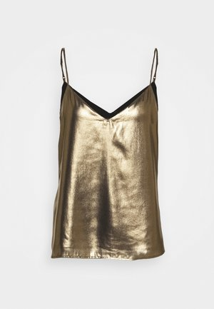 PERFECT CAMI FOIL - Top - gold