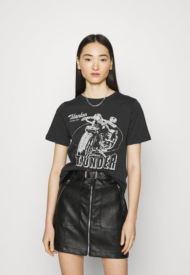 IDA TEE - T-shirt z nadrukiem - offblack