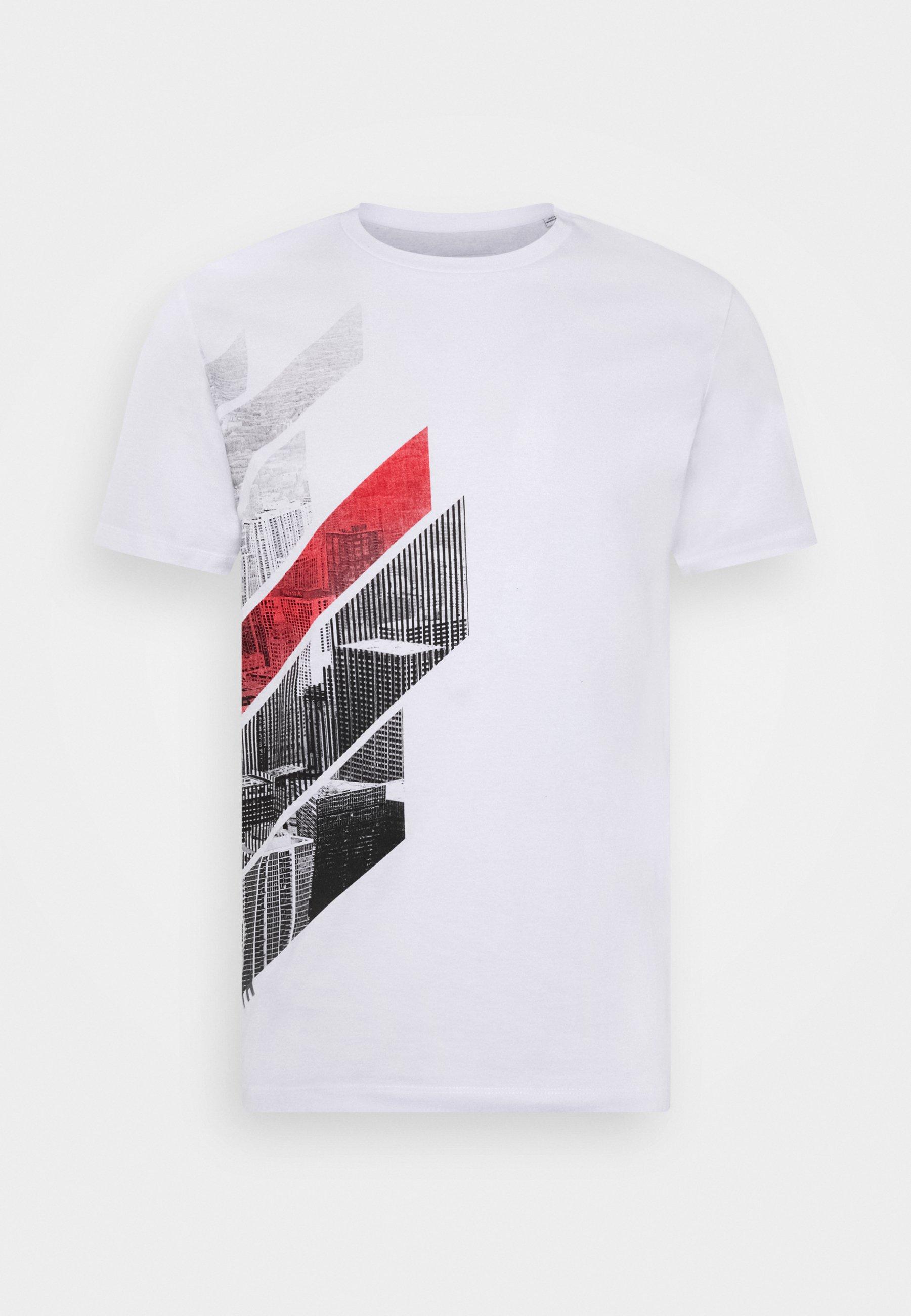 Homme JCOMUGHLAI TEE CREW NECK - T-shirt imprimé