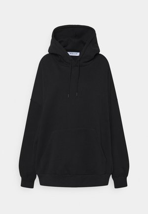 DROP SHOULDER HOODIE - Sweatshirt - black
