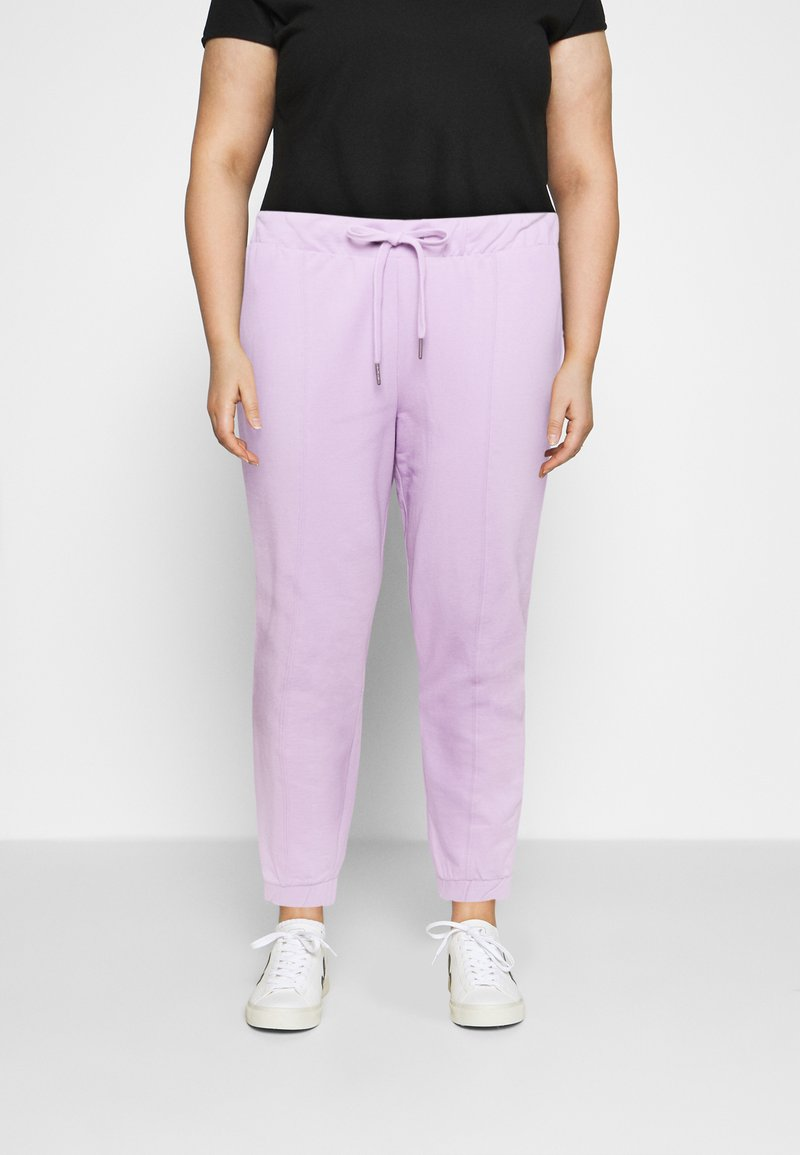 Noisy May Curve - NMMALOU PANTS - Verryttelyhousut - orchid bloom