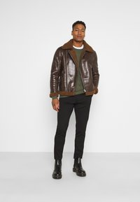 Brave Soul - PITTSBURGH - Faux leather jacket - brown - 1