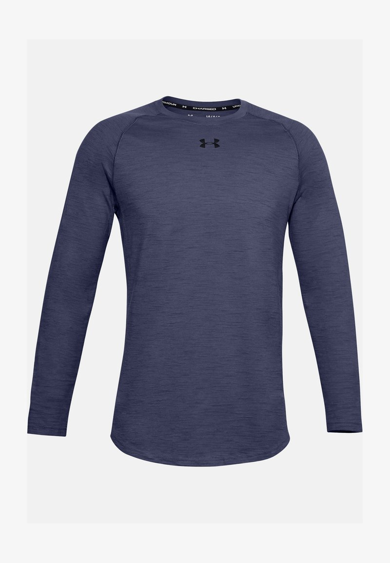 Under Armour - CHARGED  - Long sleeved top - blue ink