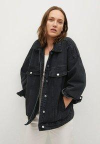 Mango - Denim jacket - black denim - 0