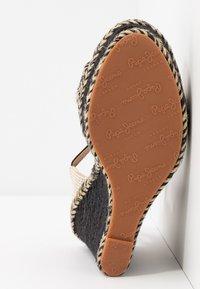 Pepe Jeans - OHARA LOGO - High heeled sandals - black - 6