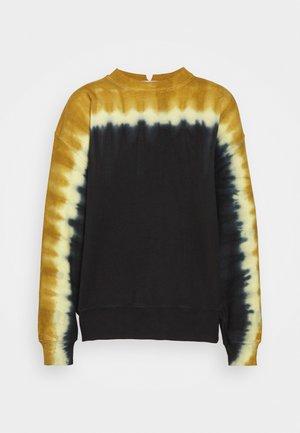 TIE DYE - Sweatshirt - olive/yellow/black