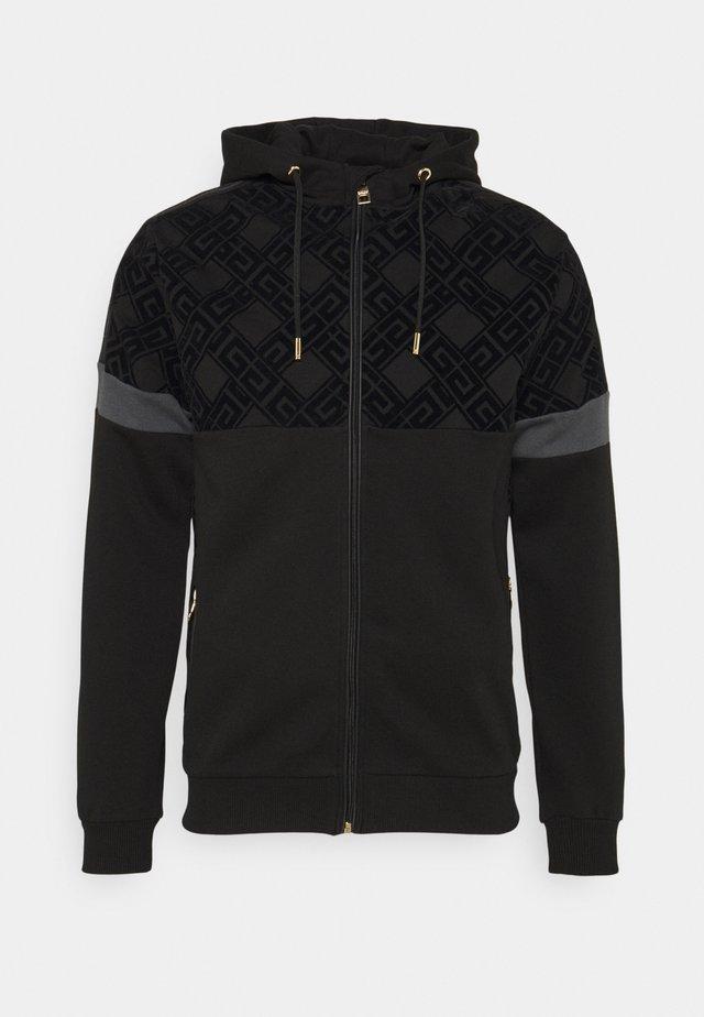 ARMAZ ZIP HOODIE - veste en sweat zippée - jet black