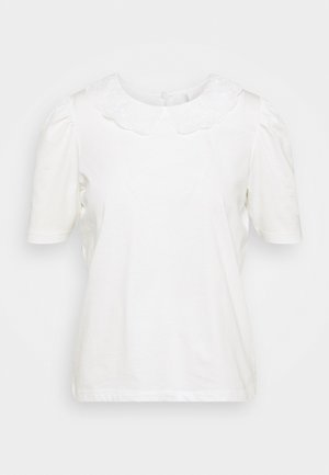 ONLNILLE COLLAR - Print T-shirt - bright white