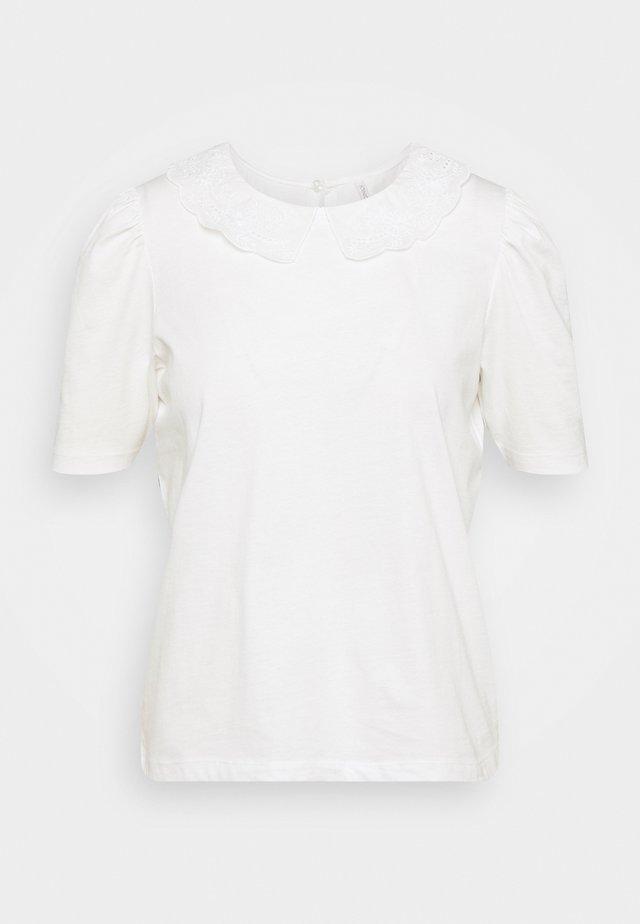ONLNILLE COLLAR - T-shirt con stampa - bright white