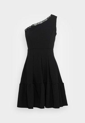 JANINE LACE TRIM SKATER DRESS - Robe de soirée - black