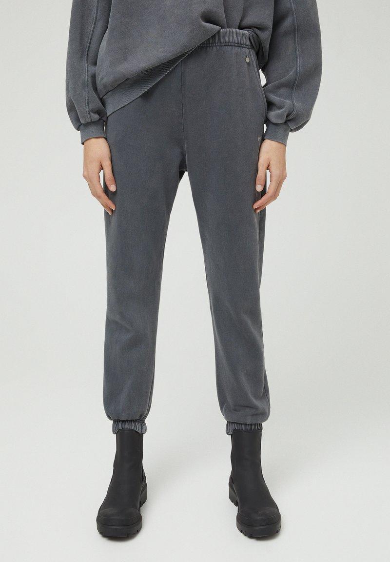 PULL&BEAR - Tracksuit bottoms - mottled dark grey