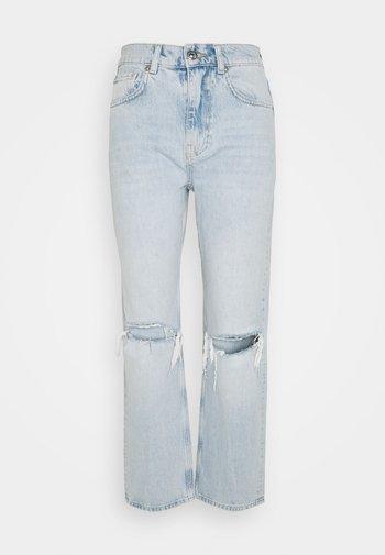 90S HIGH WAIST - Jeans relaxed fit - light blue destroy