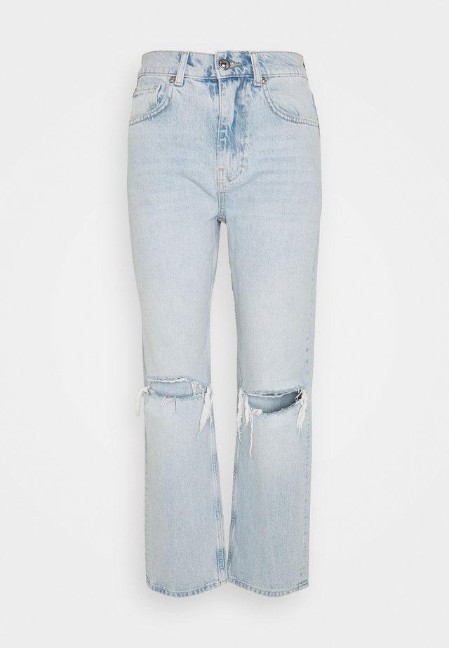 90S HIGHWAIST - Jeans baggy - light blue destroy