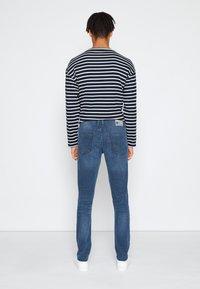 TOM TAILOR DENIM - SKINNY CULVER STRETCH - Jeans Skinny Fit - dark stone blue grey denim - 2