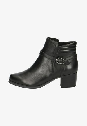 Cowboy/biker ankle boot - black nappa