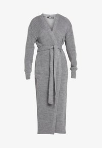 Missguided Petite - MAXI BELTED CARDIGAN - Cardigan - grey - 3