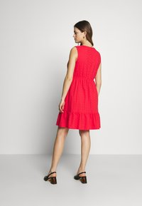 Balloon - DRESS WITHOUT SLEEVES WRAP NECKLINE - Vestito di maglina - red - 2