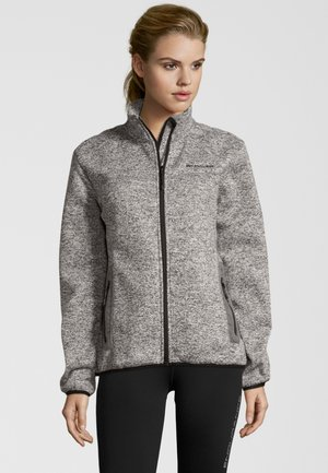 MIT HOCHABSCHLIESSENDEM KRAGEN - Fleece jacket -  light grey melange
