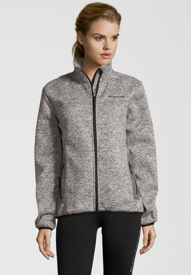 MIT HOCHABSCHLIESSENDEM KRAGEN - Fleece jacket -  light grey melange