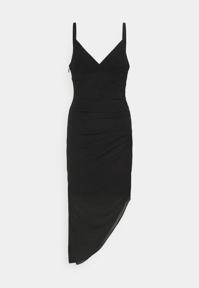 CAMISOLE DRAPED DRESS - Korte jurk - black