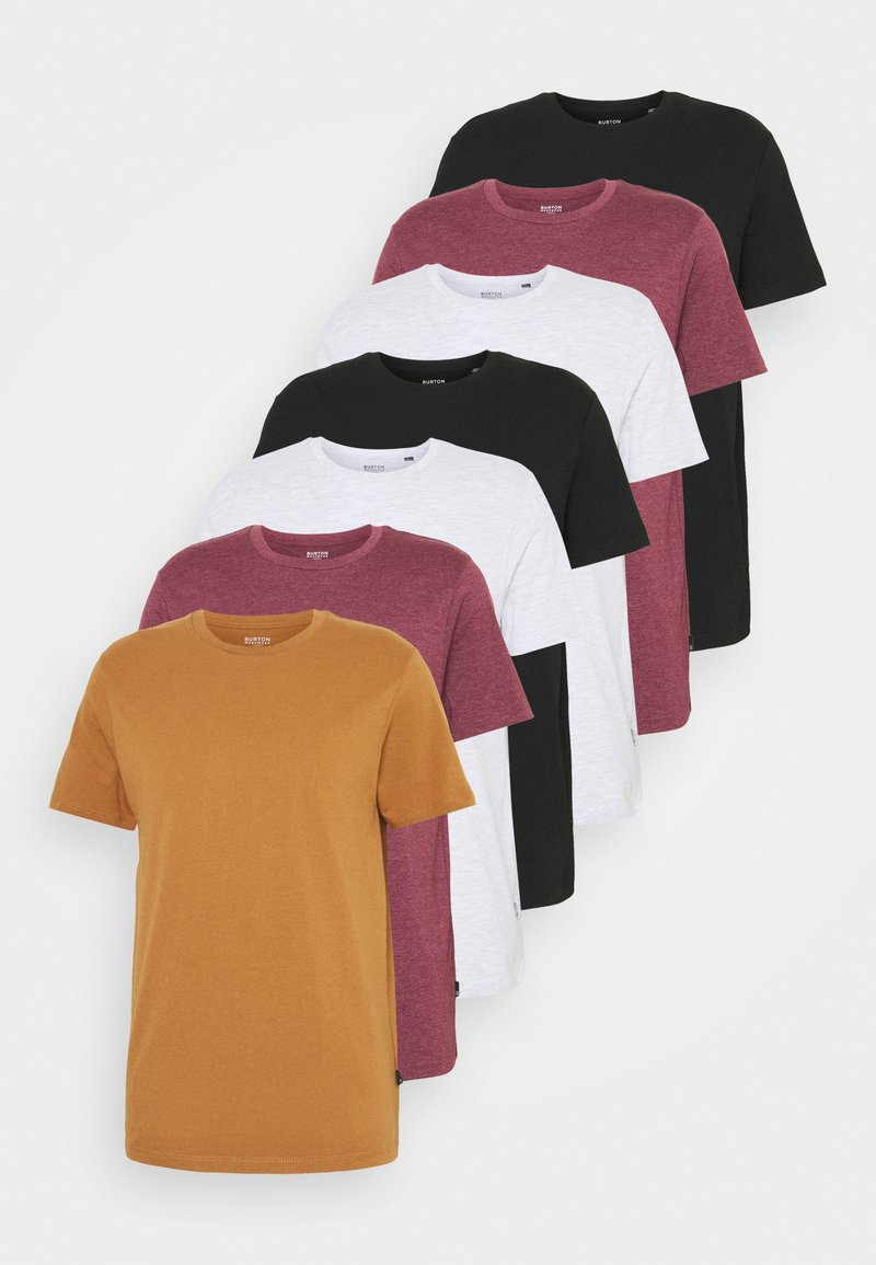 Burton Menswear London - 7 PACK - Basic T-shirt - burgundy