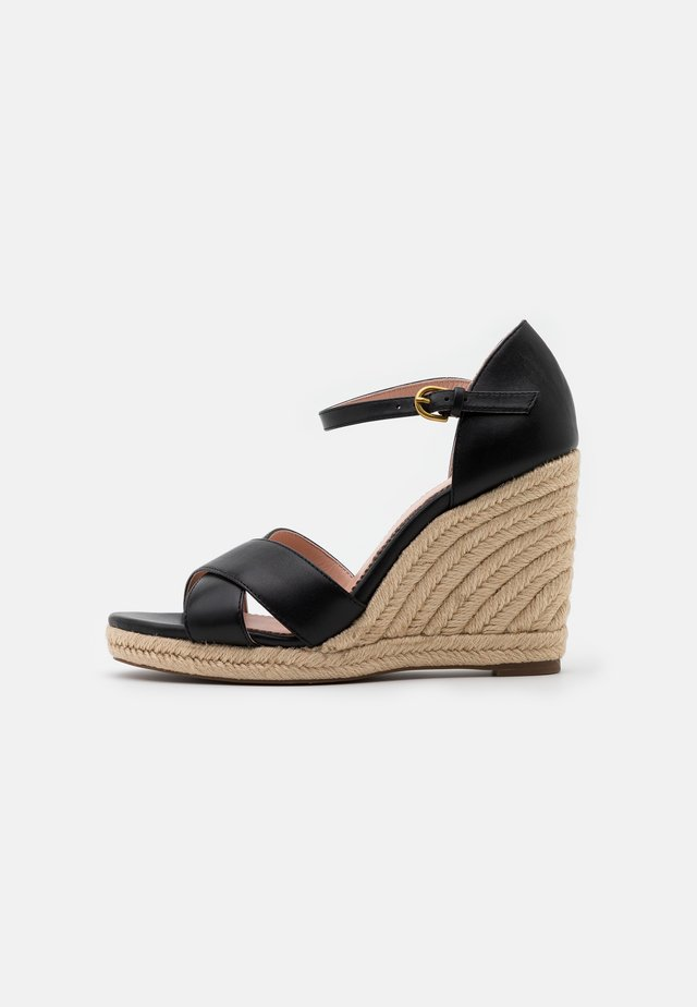 WEDGE  - Sandalias de tacón - black