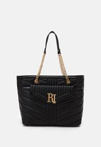 River Island - BRANDED TOTE - Tote bag - black - 0