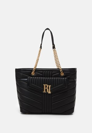 BRANDED TOTE - Shopping Bag - black
