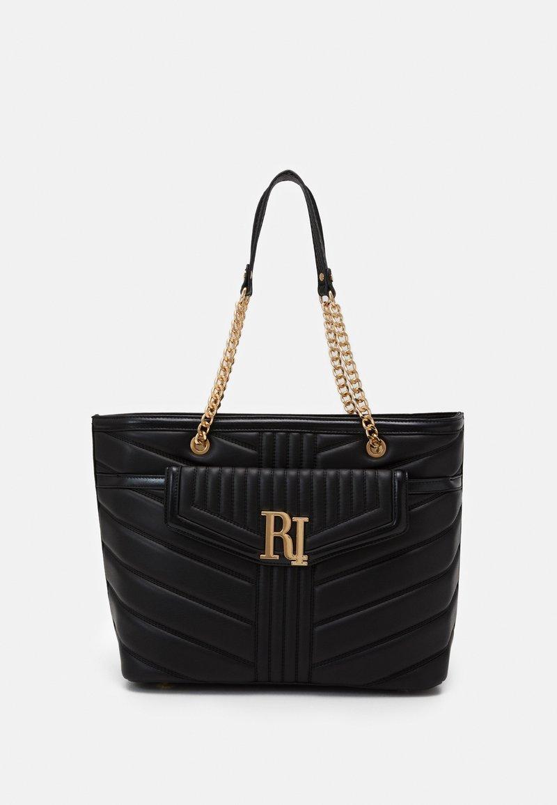 River Island - BRANDED TOTE - Tote bag - black