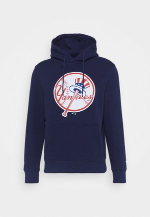 MLB NEW YORK YANKEES ICONIC PRIMARY COLOUR LOGO GRAPHIC HOODIE - Klubové oblečení - navy