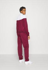 Nike Sportswear - TRACK SUIT SET - Tracksuit - dark beetroot/white - 2