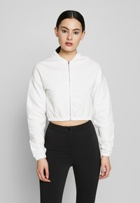 Nly by Nelly - CROPPED ZIP HOODIE - Zip-up hoodie - white - 0