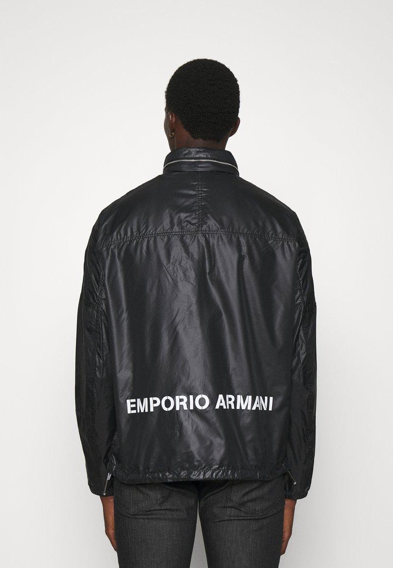 Emporio Armani - BLOUSON JACKET - Summer jacket - nero