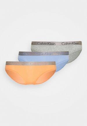 3 PACK - Alushousut - grey heather/pale blue/flambe