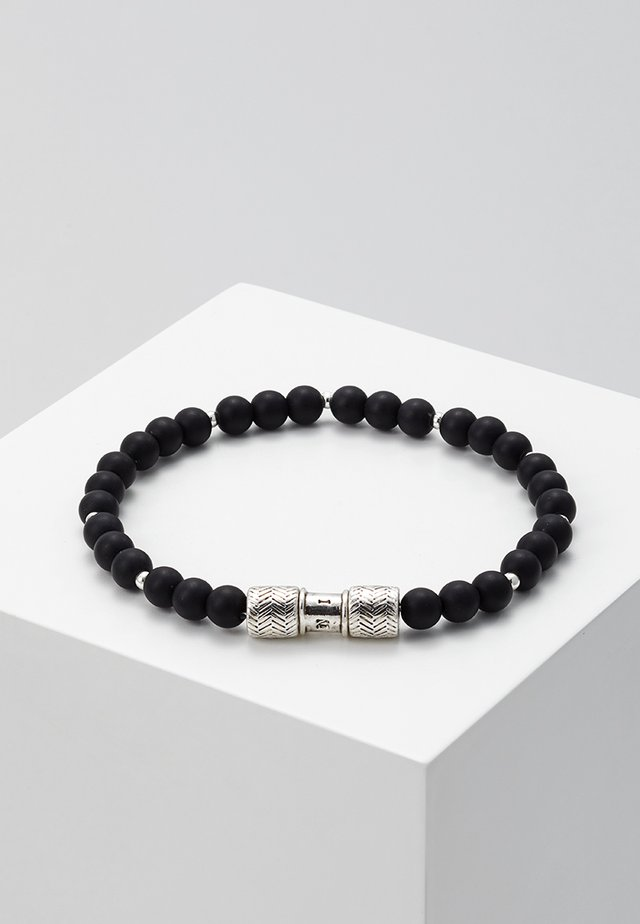 HERRING BEADED BRACELET - Náramek - black