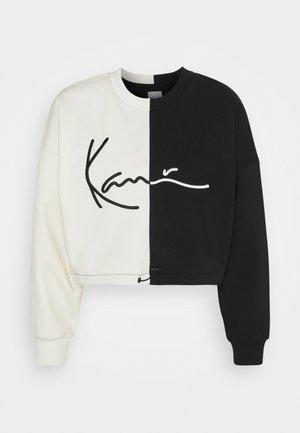 SIGNATURE CROPPED BLOCK CREW - Sweater - off white
