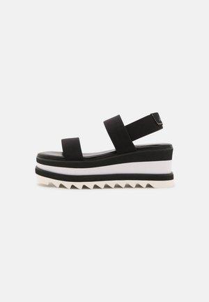 DREACIA - Sandály na platformě - black